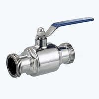 Sanitary male threaded 2PC ball valves