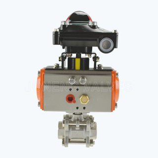 Sanitary pneumatic high purity 3PCS ball valves