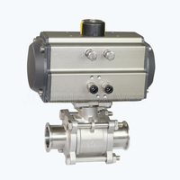 Sanitary pneumatic extra-clean 3PCS ball valves